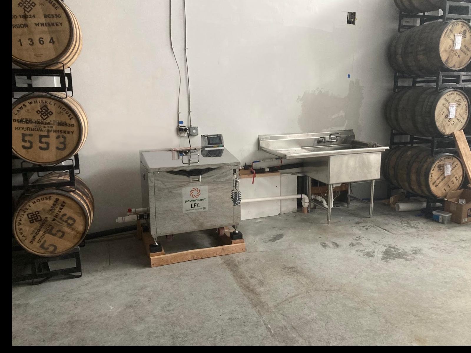 Food waste digester at Montanya Distillers